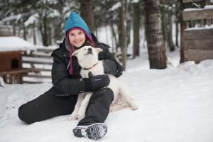 Alizé et son nouveau copain le chien