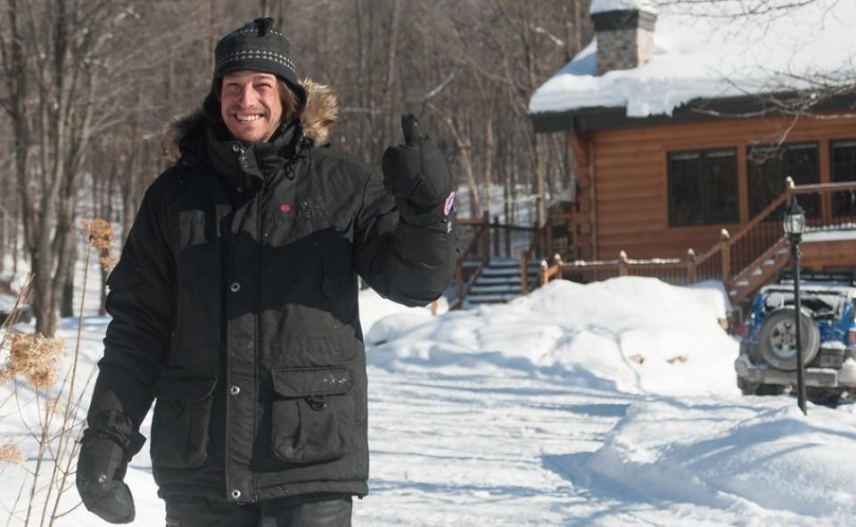 Alex et son grand sourire, le proprio des tipis du sommet dans Lanaudière