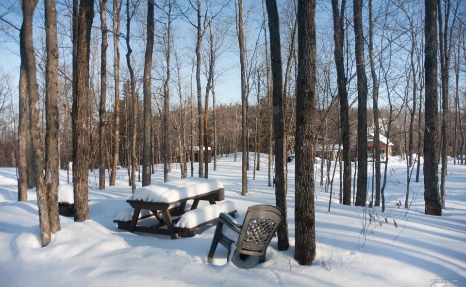 Le dit sommet, le lendemain par une grand froid canadien