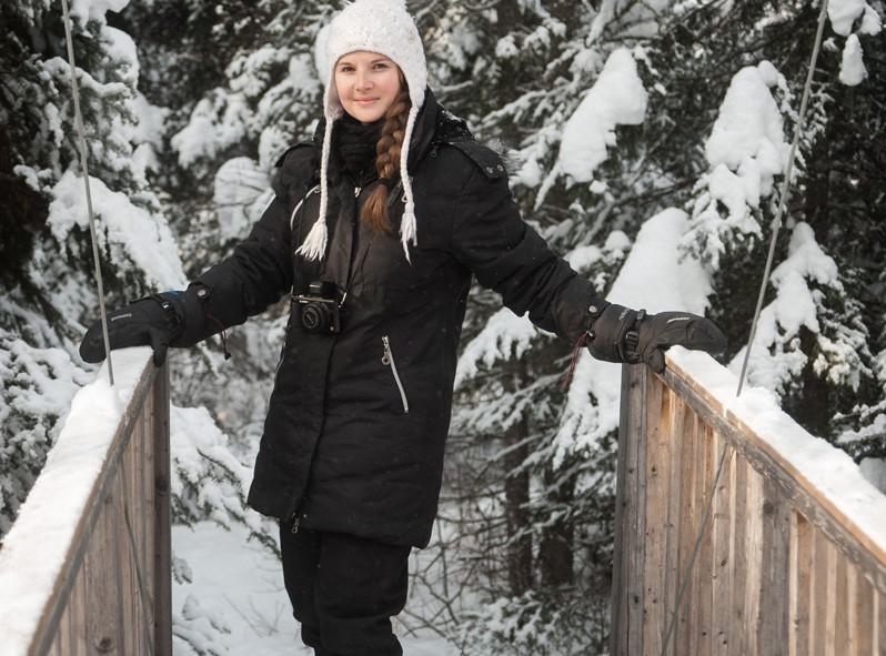 Alizé à l'entrée des sentiers de Kabania dans la forêt de Lanaudière