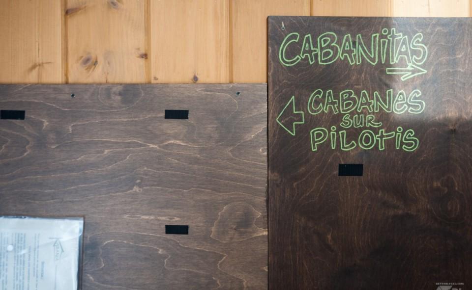 Une petite cabane à l'accueil où l'on retrouve une pochette avec la clef et les instructions