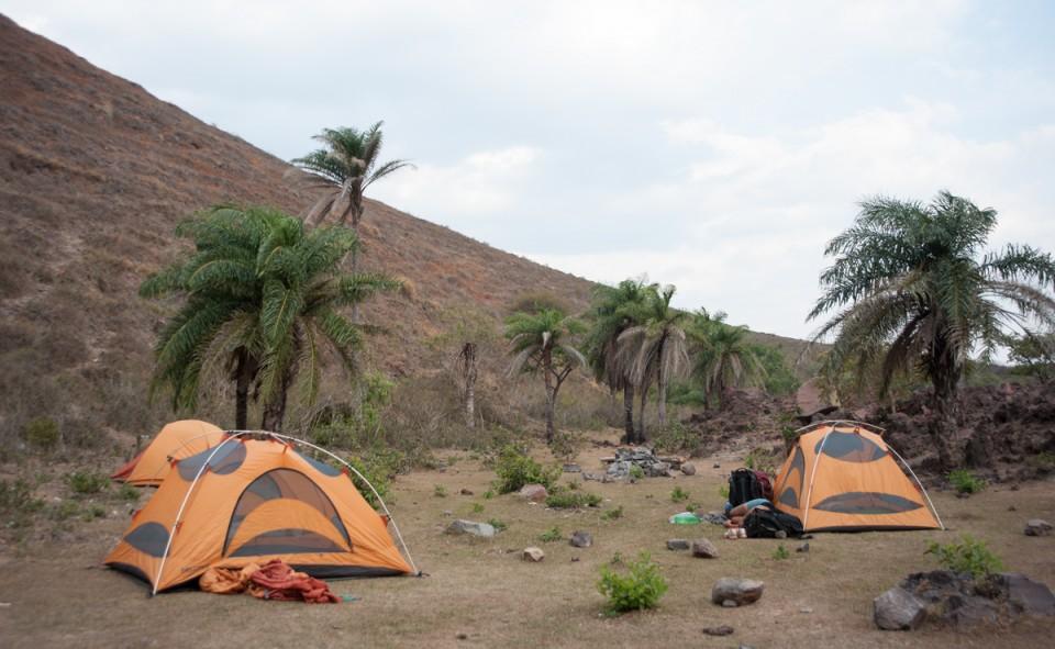 Notre campement lors de l'ascension du volcan Telica