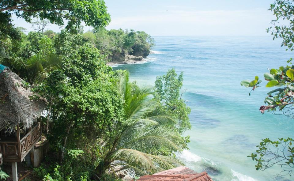 Bocas Del Toro. La vue depuis la terrasse de l'hôtel
