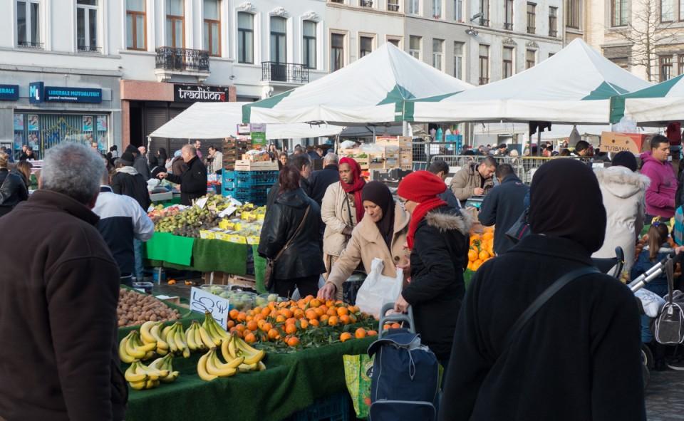 Les jeudis, c'est place au marché et un ambiance complètement atypique pour Bruxelles