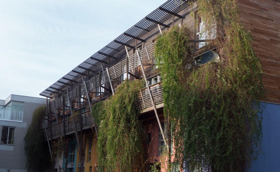 Les habitations groupés et projets communautaires se font sentir dans tous les recoins du quartier de Molenbeek