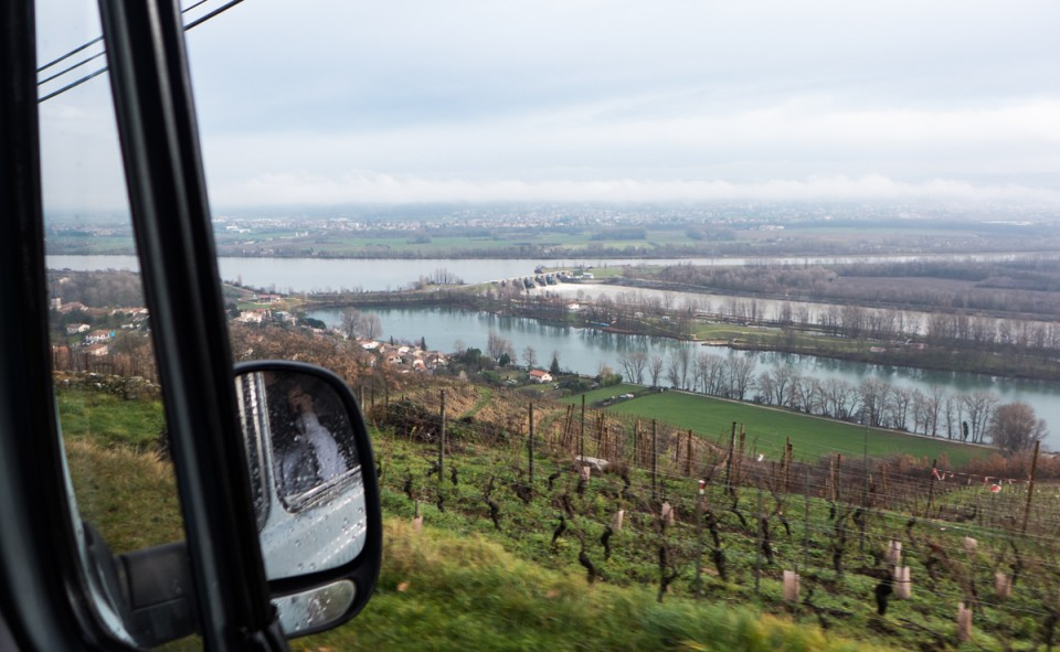 Wow! On adore les paysages sur la route à bord de notre van